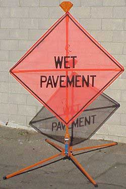 wet pavement sign